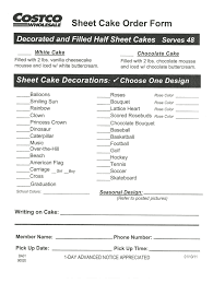 Costco Cake Designs 2019 Costco Cakes Fill Online Printable Fillable Blank