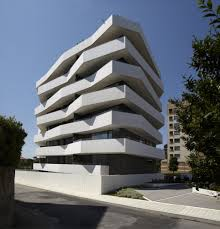 Geometric Apartment Building By DEMM Arquitectura Dream Home - Modern apartment building facade