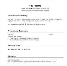 Sample Resume Format Interesting Chronological Sample Resume Format Samples Microdataprojectorg