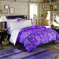 teen girl bedding sets with purple fl pattern comforter and white bedspread combined purple