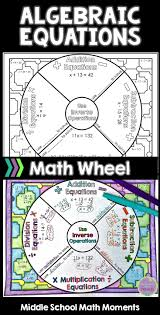 algebraic equations math wheel with editable wheel