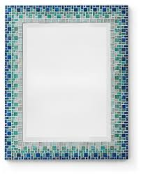 Excellent Blue Bathroom Mirror Uk Mosaic Bluetooth Led And