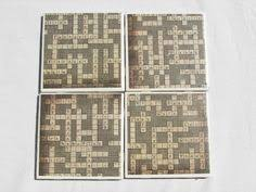 Decorative Tile Coasters 100 Tile Coasters in Crossword Theme by fromdirttodiamonds on Etsy 43
