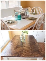 tile top makeover diy wood herringbone table tablemakeover furnituremakeover diy southernrevivals