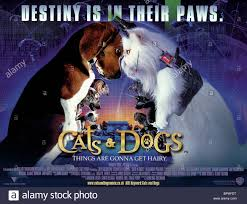 cats and dogs movie poster. Plain And FILM POSTER CATS U0026 DOGS 2001  Stock Image On Cats And Dogs Movie Poster