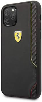 Iphone 12 pro max cases. Ferrari Phone Case For Iphone 11 Pro Pu Leather Hard Case On Tack Racing Shield With Carbon Fiber Effect Black Easy Snap On Drop Protection Officially Licensed Amazon Com