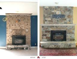 reface brick fireplace nice stone veneer design featuring wall mount flat with stucco