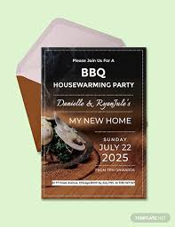 housewarming party invitation template free free bbq housewarming party invitation template download 518