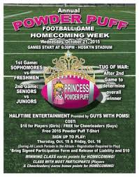 powder puff football flyers athletics images all documents