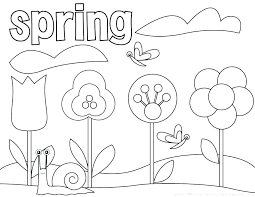 Coloring Coloring Pages Sheets Free Printable Spring Flowers