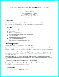 Resume For Administrative Assistant Awesome Executive Administrative Assistant Resume Letsdeliverco
