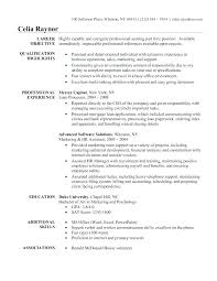 Sample Resume Objectives this is hr resume objective goodfellowafbus 55