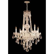crystorama lighting group traditional polished brass six light hand cut crystal chandelier