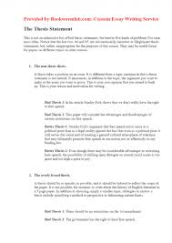 General Statement Examples For Essays Example Essay Thesis Statement
