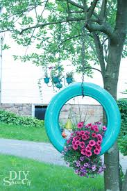 how to make a tire flower planter diyshowoff