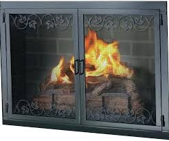 wood burning fireplace glass doors extra large insert inserts tv stand l