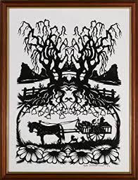Scherenschnitte sind edle und sehr dekorative papierelemente, die per hand zugeschnitten werden. Scherenschnitt Signiert Kunst Grafik Poster Zvab