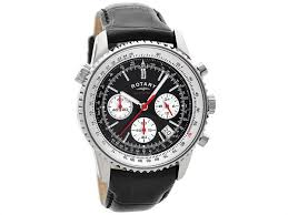mens rotary watches ladies rotary watches f hinds jewellers rotary gs00015 19 stainless steel chronograph sports black leather strap watch w1211