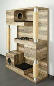 the catframe combines a contemporary wood cat tree sisal rope scratching posts cubby holes chic cat furniture