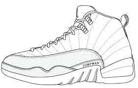 19 Luxury Jordan 12 Coloring Pages Coloring Page