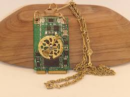 <b>Circuit Board</b> Steampunk Pendant Necklace. <b>FREE SHIP</b> in U.S. ...