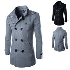 long grey wool coat new fashion wool coat winter trench coat outwear overcoat long jacket zara