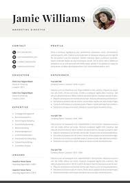 Modern Resume Etsy Creative Resume Template With Photo Elegant Design