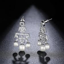 vintage pearl bridal earrings