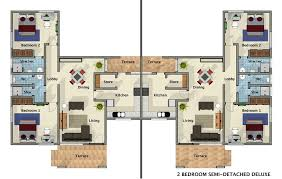 exciting 2 bedroom semi detached house plans images best