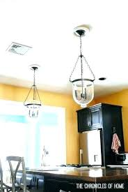 replace can light with pendant amazing how to a chandelier recessed lighting kitchen lights