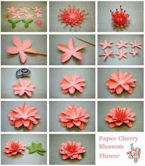 Daffodil Paper Flower Pattern Diy Daffodil And Cherry Blossom 3d Paper Flower Tutorial Step By