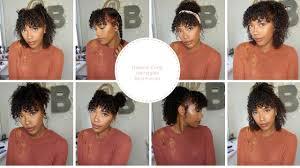 cute natural curly hairstyles bang friendly