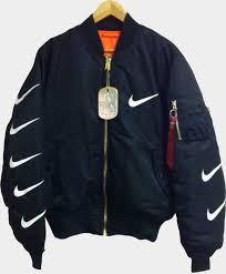 nike quilted bomber jacket. nike bomber jacket / black \u2013 svpply nike quilted bomber jacket