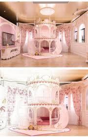 Schlafzimmer Prinzessin Mädchen Kinder Gleitet Bett Schöne
