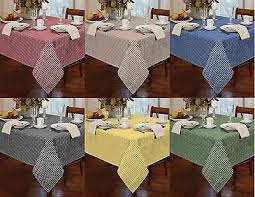 country style gingham check table cloth square round rectangle tablecloths