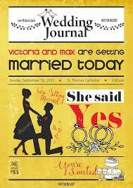 Wedding Invitation Newspaper Template Newspaper Wedding Program Template Vintage Newspaper Or