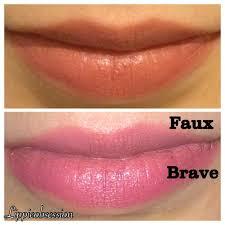 A Comparison: <b>MAC Faux</b> and MAC Brave lipsticks-Do you really ...