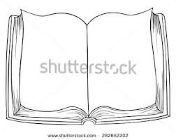 vector cartoon open book drawing
