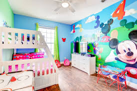 Mickey Mouse Bedroom Wallpaper Mickey Mouse Condo At Windsor Hills Luxury Vacation Rental Condo