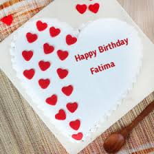 Birthday Cake Pic With Name Fatima The Decor Of Christmas