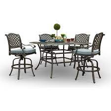 5 piece square pub style table macan
