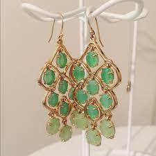 29 off stella dot jewelry nwot stella dot green chandelier earrings from kristina 039 s