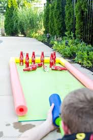 homemade outdoor games for kids. Water Gun Bowling...these Are The BEST Backyard Game Ideas For Kids \u0026 Homemade Outdoor Games O
