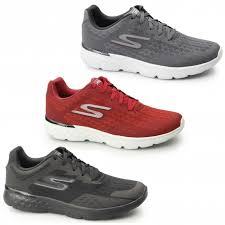 skechers go run 400. skechers gorun 400 - disperse mens mesh sports trainers charcoal/red go run