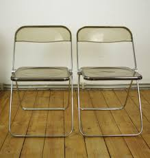 set of folding chairs. Vintage Plia Folding Chairs By Giancarlo Piretti For Castelli, Set Of 2