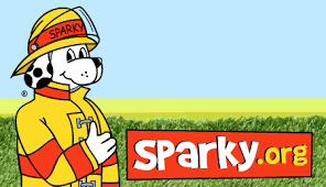 sparky the fire dog. sparky logo2 the fire dog