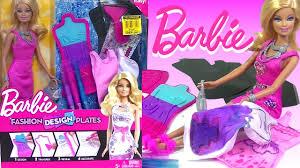 Doll Dress Design Kit Barbie Fashion Design Plates Design Your Own Barbie Doll Dress Kids Toys