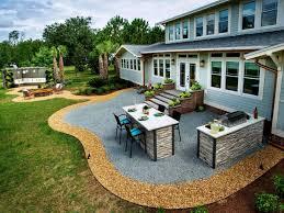 Contemporary Backyard Landscaping Ideas Modern Patio Pavers Rear