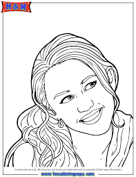 Image Teen Sitcom Hannah Montana Coloring Page Gif Just Dance Pages
