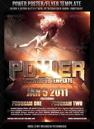 Power Poster Flyer Template Clubs Parties Events Flyer